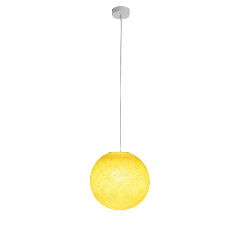 """Luminaire """"Globe petit jaune"""" par La Case de Cousin Paul"""