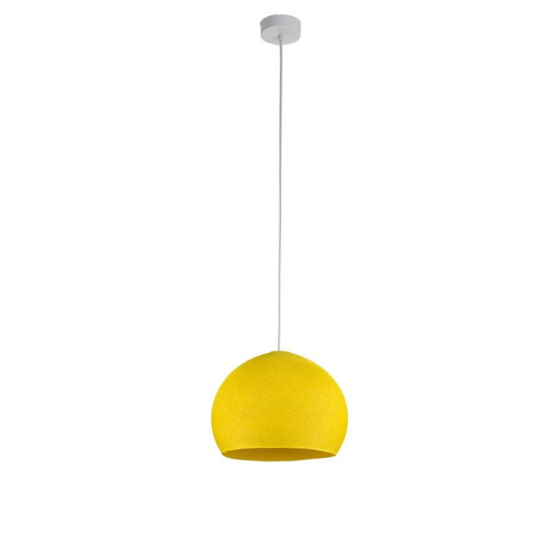 """Luminaire """"Coupole petit modèle jaune vif """" par La Case de Cousin Paul"""