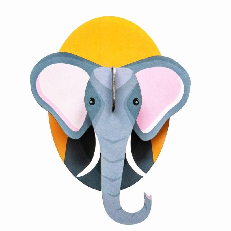 """Décoration murale à assembler """"Little Elephant"""" par studio ROOF"""