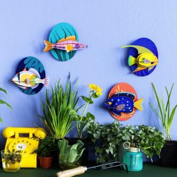 """Collection de poissons à assembler dont le """"Jewel damselfish"""" de studio ROOF"""