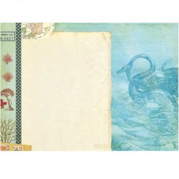 """Intérieur du cahier illustré façon carnet de voyage """"Jules Verne"""" par Gwenaëlle Trolez"""