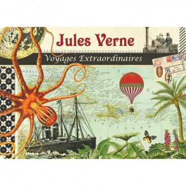 """Cahier illustré façon carnet de voyage """"Jules Verne"""" par Gwenaëlle Trolez"""