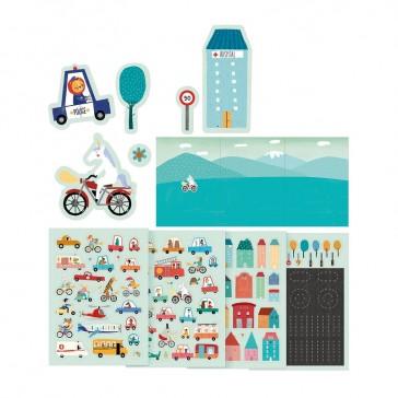Planches de 150 stickers sur le thème de la ville par Londji