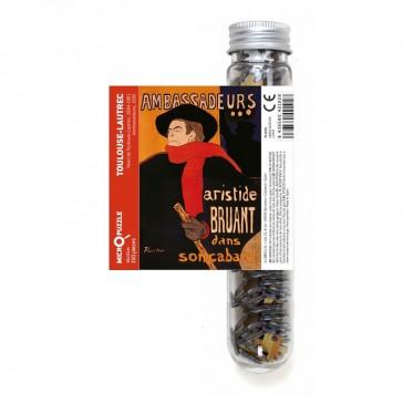 """Micro puzzle en tube """"Aristide Bruand par Toulouse Lautrec"""" par Londji"""