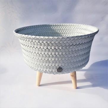 """Cache-pot sur pieds petit modèle """"Up Low gris vieilli"""" par Handed by"""