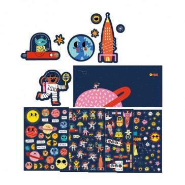 Stickers pour enfants sur le thème de l'espace par Londji