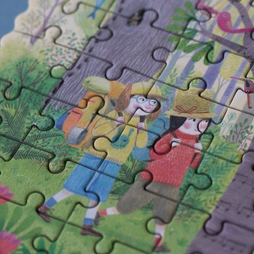 """Détail du puzzle """"Day and night in the forest"""" par Londji"""