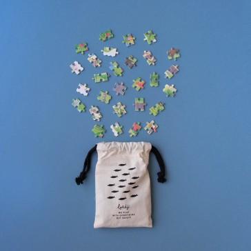 """Pochon pour conserver les pièces du puzzle """"Day and night in the forest"""" par Londji"""