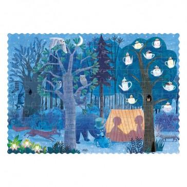 """Dos du puzzle """"Day and night in the forest"""", La nuit dans la forêt, par Londji"""