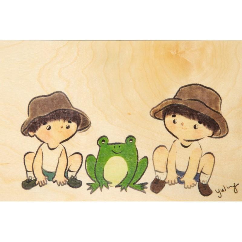 """Carte postale en bois d'érable """"Under the sea"""" par Woodhi"""