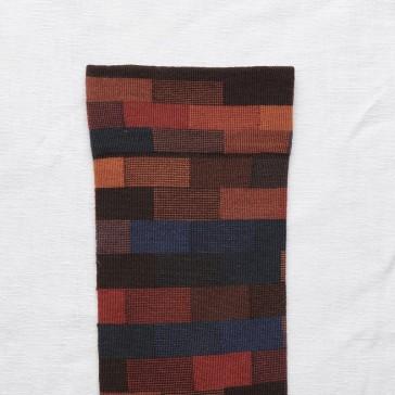 Détail de la paire de chaussettes Brique Multico par Bonne Maison
