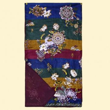 """Etole en soie """"Tibet Stripes Cassis"""" par La Fiancée du Mékong"""