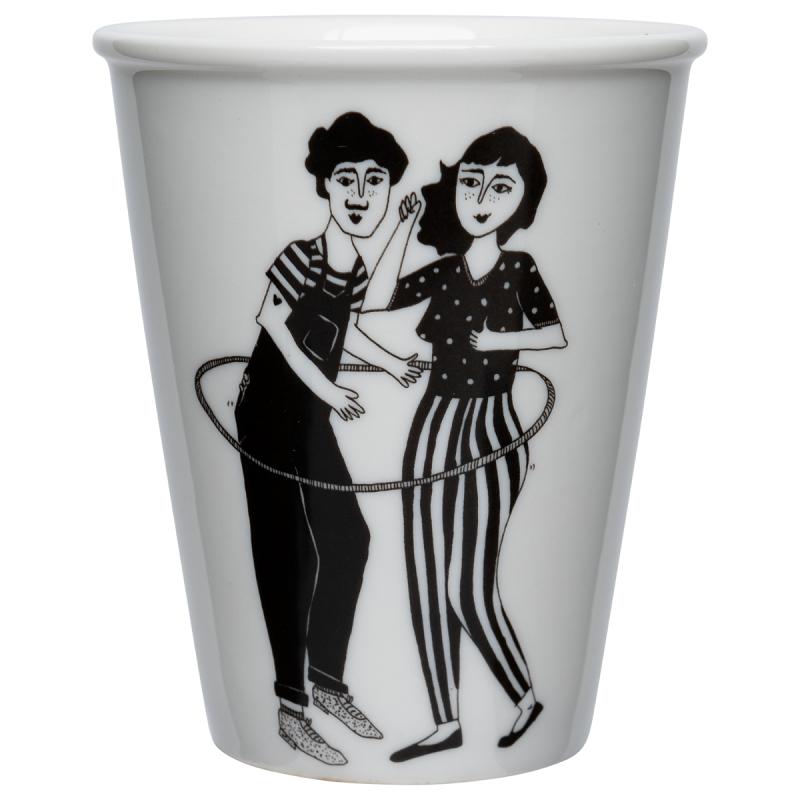 "Tasse en porcelaine ""Hulahoop"" par helen b"