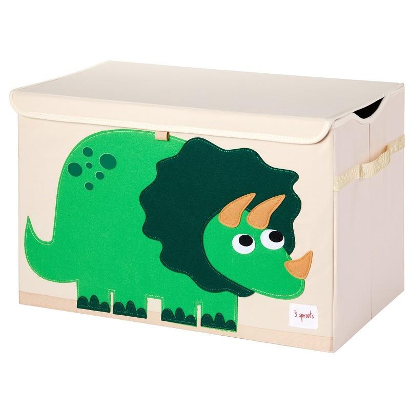 """Coffre à jouets pliable """"Dino"""" par 3 Sprouts"""