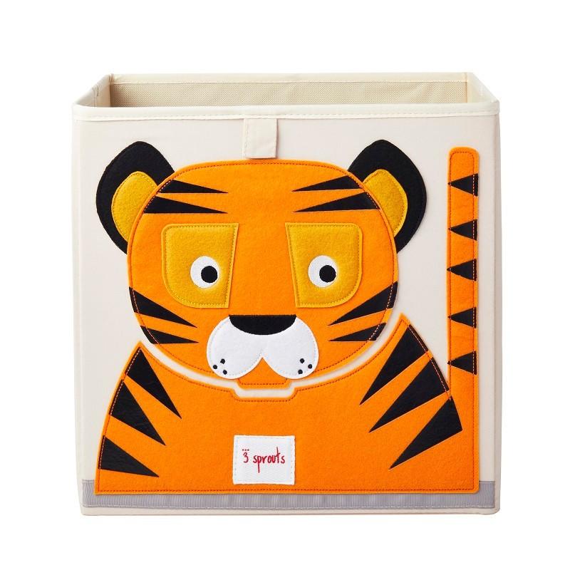 """Cube de rangement pliable """"Tigre"""" par 3 Sprouts"""