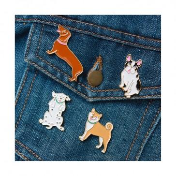 Collection de broches en forme de petits chiens par Coucou Suzette