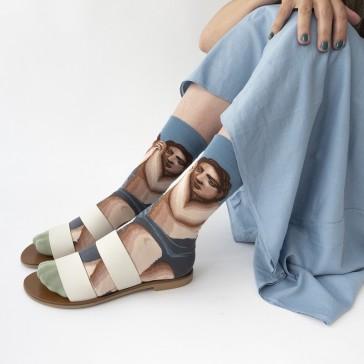 Jolies chaussettes hautes par Bonne Maison collection nocturne