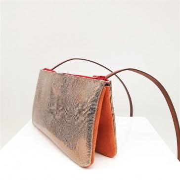 Petit sac à double compartiments par Bandit Manchot en cuir recyclé