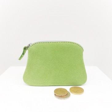Petit porte-monnaie vert pistache à paillettes de la Cartablière