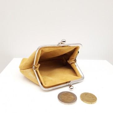 """Intérieur du porte-monnaie en cuir """"Reine alezan doré"""" par La Cartablière"""