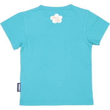 """Dos du t-shirt à manches courtes de couleur bleu ciel pour enfant """"Toucan"""" par Coq en Pâte"""