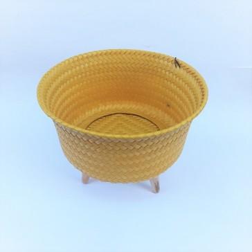 """Cache-pot sur pieds petit modèle """"Up Low Moutarde"""" par Handed by"""