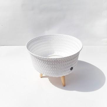 """Cache-pot sur pieds petit modèle """"Up Low blanc"""" par Handed by"""