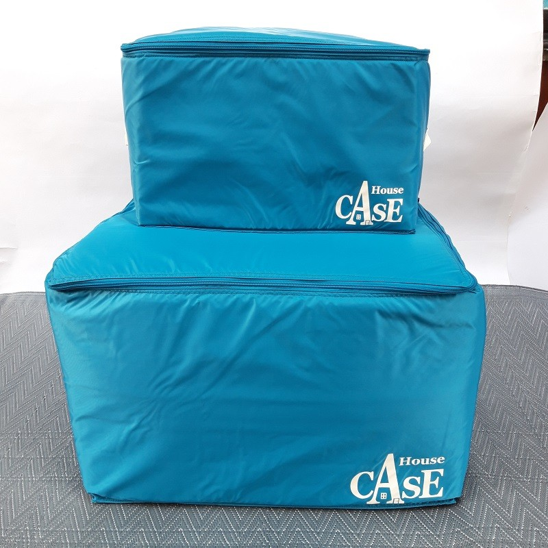 Rangement House Case Large bleu Lagon par Bensimon