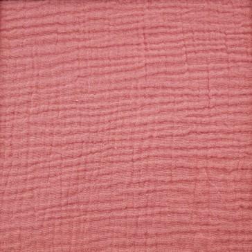 """Tissu en gaze de coton """"Rose thé"""" vendu à la coupe par Domotex"""