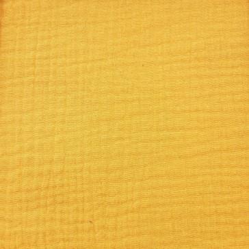"""Tissu en gaze de coton à la coupe """"Jaune Moutarde"""" par Domotex"""