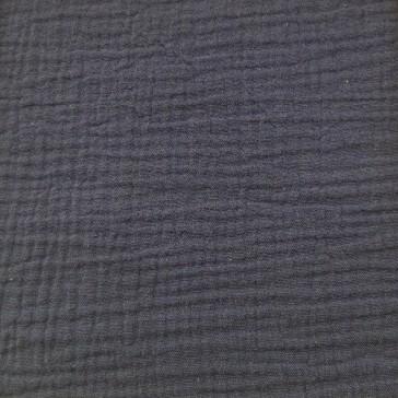 Tissu en gaze de coton bleu indigo par Domotex