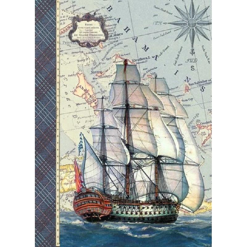 Carnet à mots de passe à motif de vieux voilier par Gwenaëlle Trolez