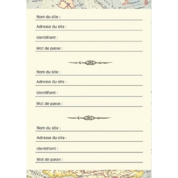 """Page du carnet à mots de passe """"Navire"""" par Gwenaëlle Trolez"""