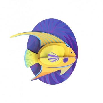 """Décoration murale à assembler """"Yellow angelfish"""" par studio ROOF"""