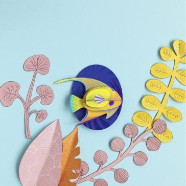 """Poisson en carton à assembler """"Yellow angelfish"""" par studio ROOF"""