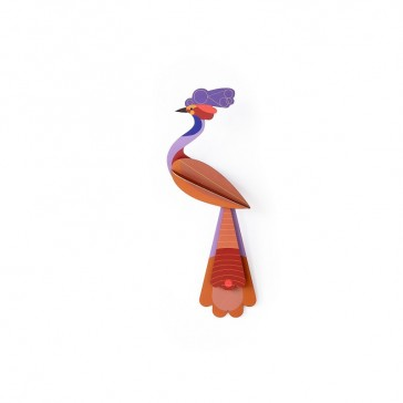 Oiseau en carton dit Savu à construire par Studio Roof