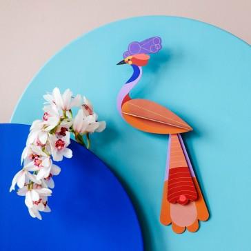 """Décoration murale à assembler """"Paradise bird Savu"""" par studio ROOF"""