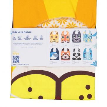 Packaging de la collection de grandes serviettes bavoirs pour enfants par Coq en Pâte