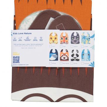 Packaging de la collection de bavoirs serviettes  pour enfants par Coq en Pâte