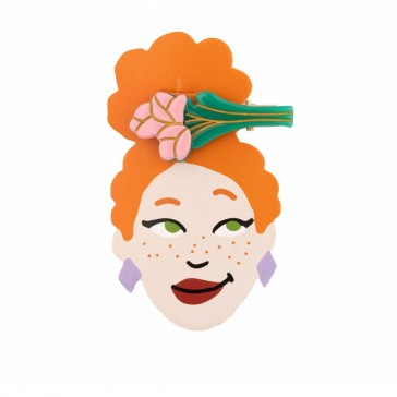 Barrette à cheveux façon bouquet de tulipes roses par Coucou Suzette