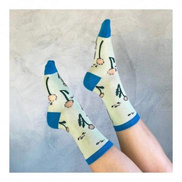 Paire de chaussettes transparentes à fleurs de pissenlit par Coucou Suzette