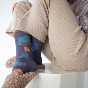 Chaussettes Visage nocturne, collection Ciel d'hiver par Bonne Maison