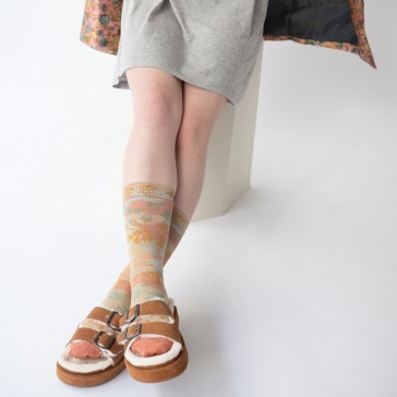Paire de chaussette Dominoté par Bonne Maison, collection Ciel d'hiver