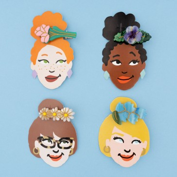 Collection de barrettes à cheveux en forme de fleurs par Coucou Suzette