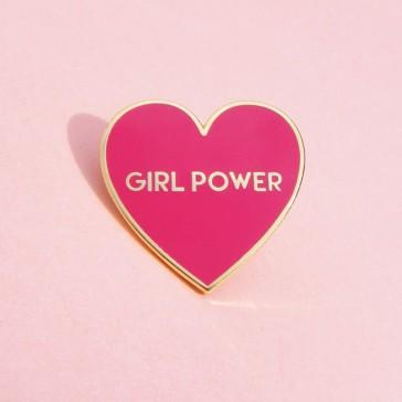 """Pin's cœur rouge """"Girl power"""" de chez Coucou Suzette"""