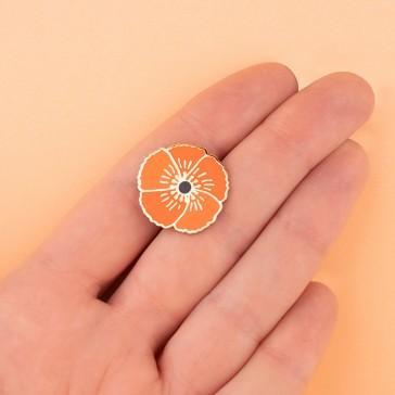 """Pin's """"Coquelicot"""" qui donne du pep's à votre tenue par Coucou Suzette"""