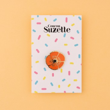 Packaging du pins coquelicot par Coucou Suzette