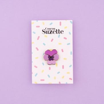 Pins en forme de fleur de pensée par Coucou Suzette