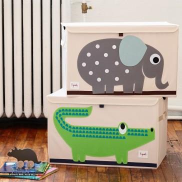 """Coffres à jouets pliables """"Eléphant"""" et """"Crocodile"""" par 3 Sprouts"""