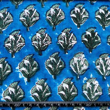 Détail de tissu indien en voile de coton vendu à la coupe par Maison Pouic